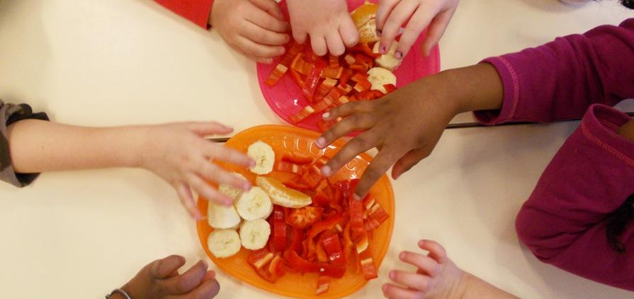 Hilfe für Kids - gesunde Mahlzeit im Kindergarten