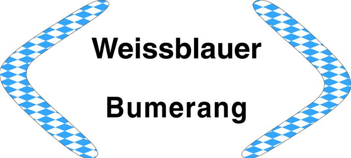 Spende Weißblauer Bumerang für Hilfe für Kids