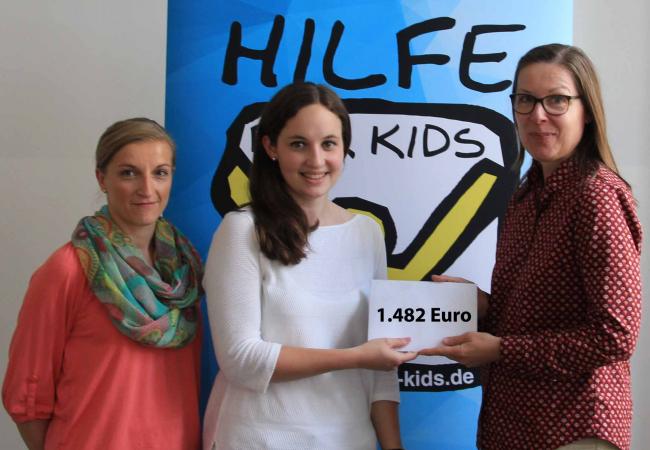 Spende von Harman Becker für Hilfe für Kids